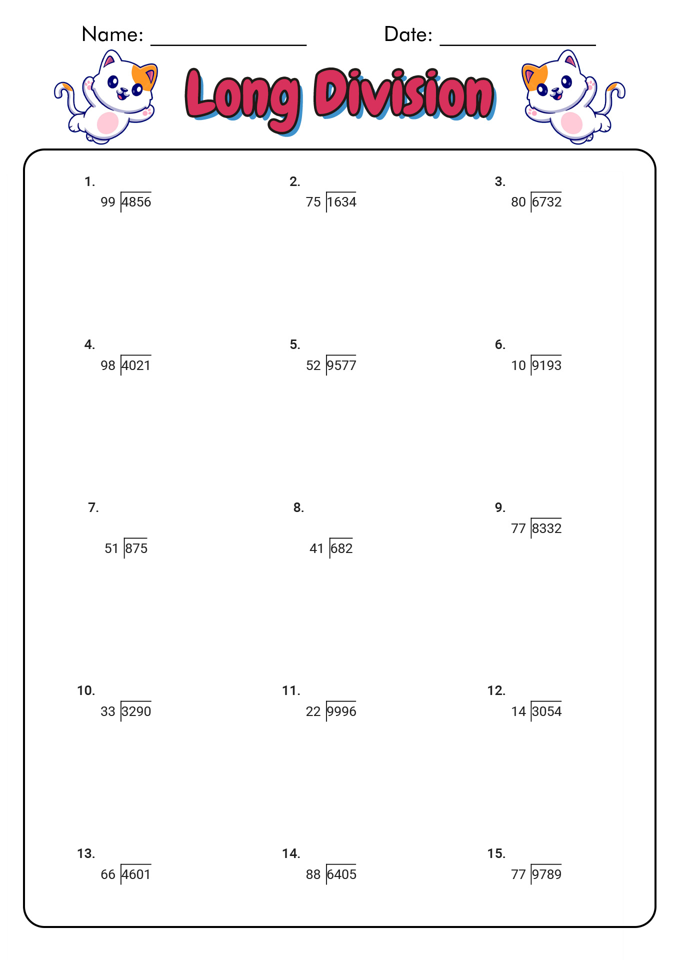 hight resolution of Worksheet For Division Grade 2   Printable Worksheets and Activities for  Teachers