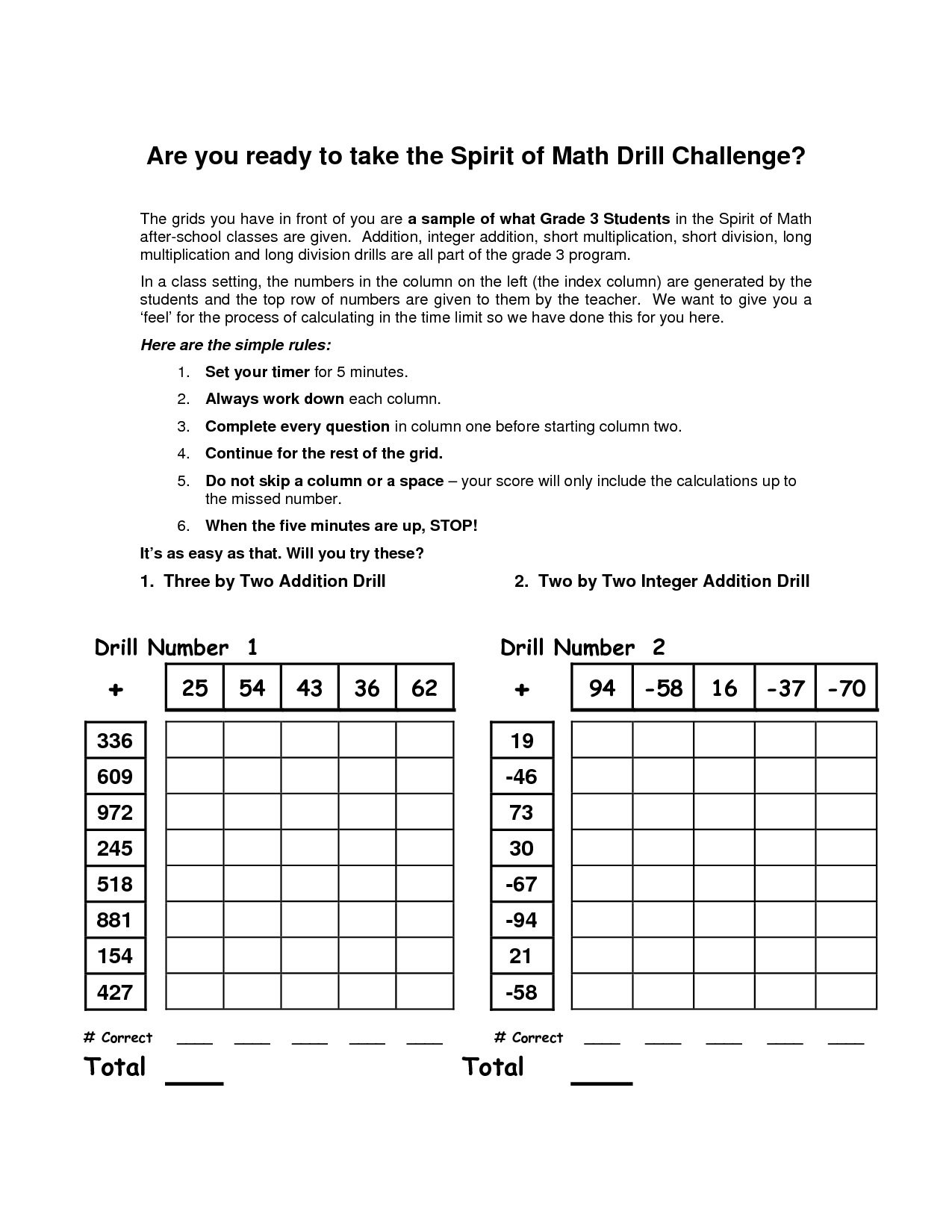 15 Best Images Of Mad Minute Division Printable Worksheets
