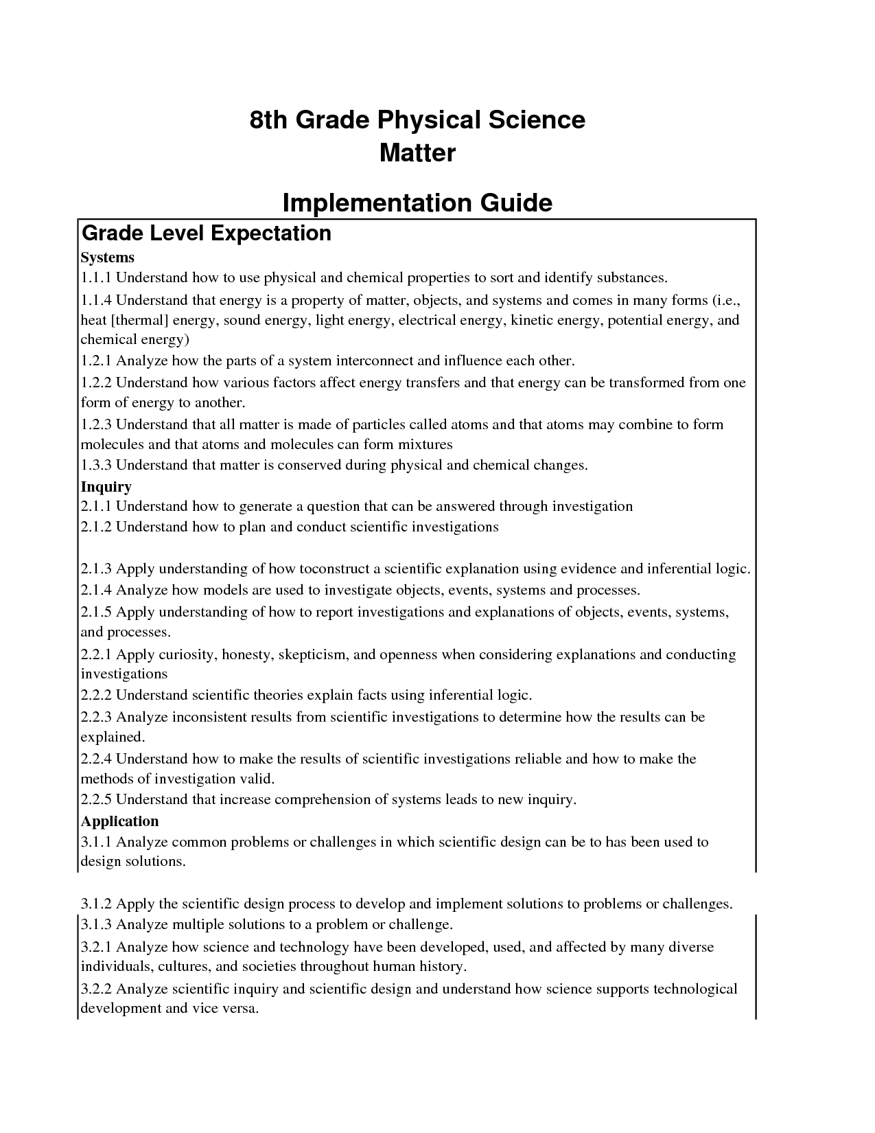Physics Worksheet For Grade 8