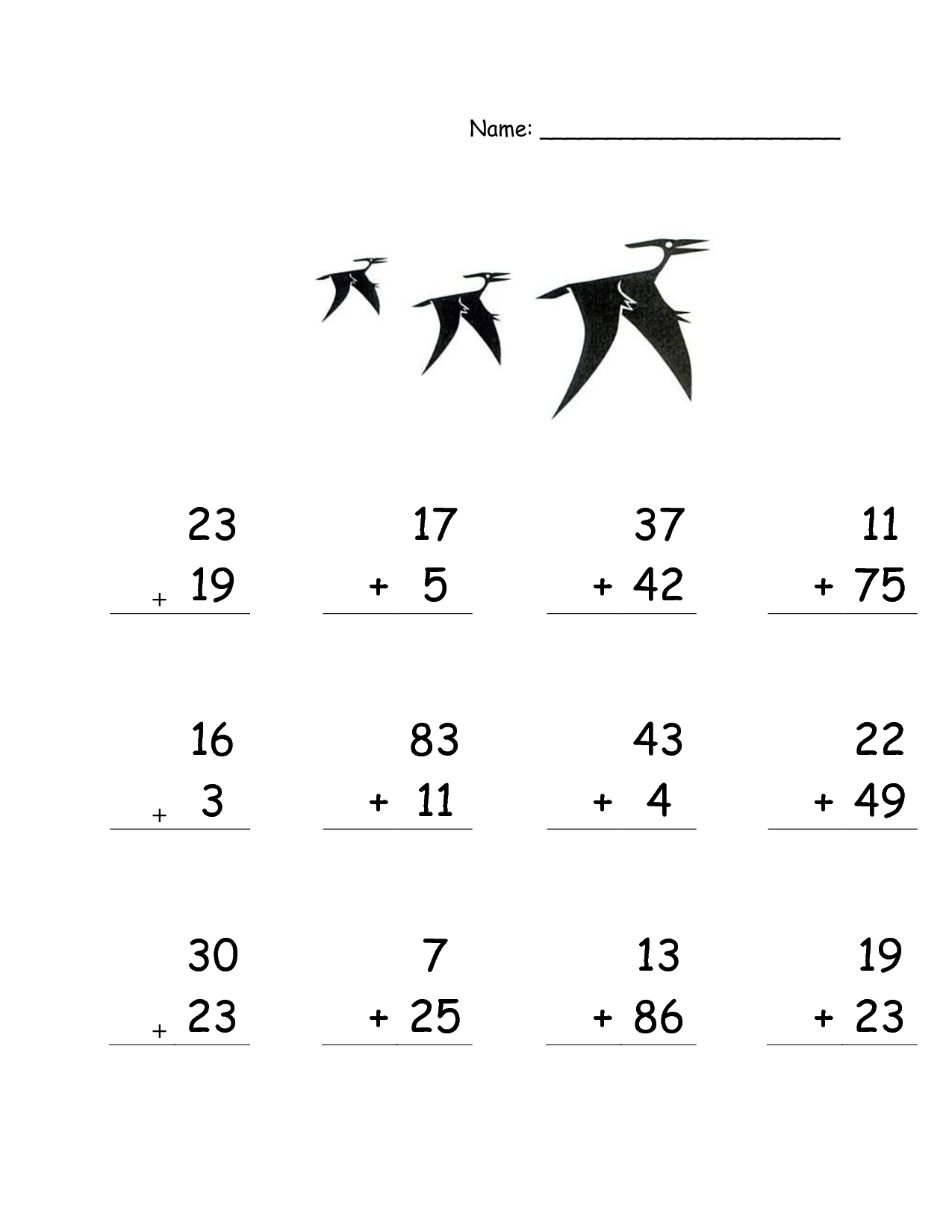 13 Best Images Of Dinosaur Math Worksheets