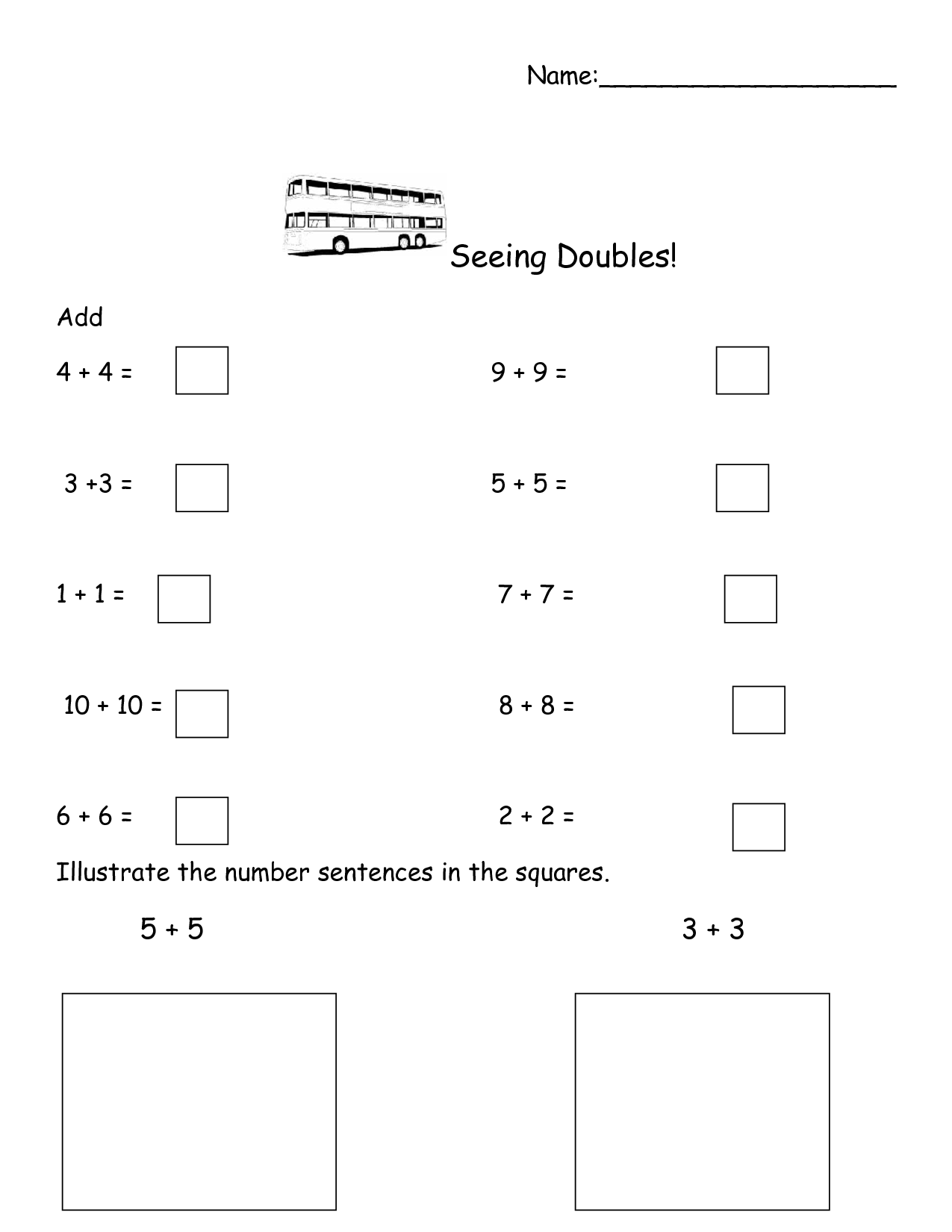 19 Best Images Of Doubles Fact Practice Worksheet