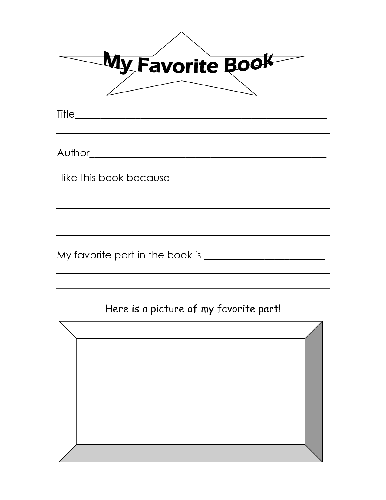 12 Best Images Of My Favorite Second Grade Part Worksheet