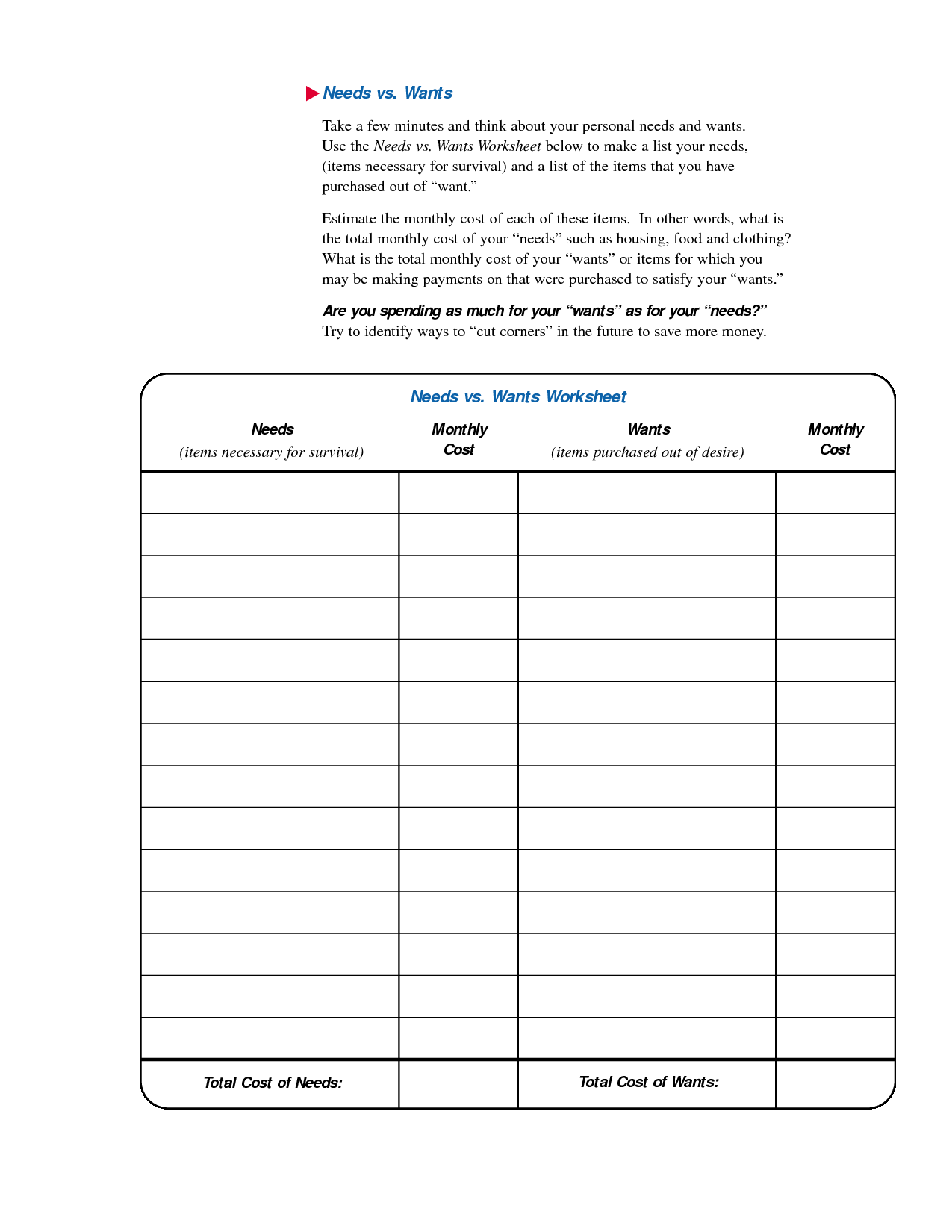 Social Stu S Worksheet Printable