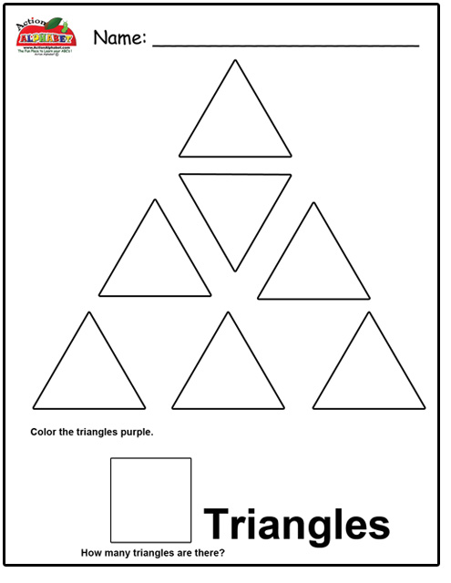 7 Best Images of Triangle Worksheets For Preschool