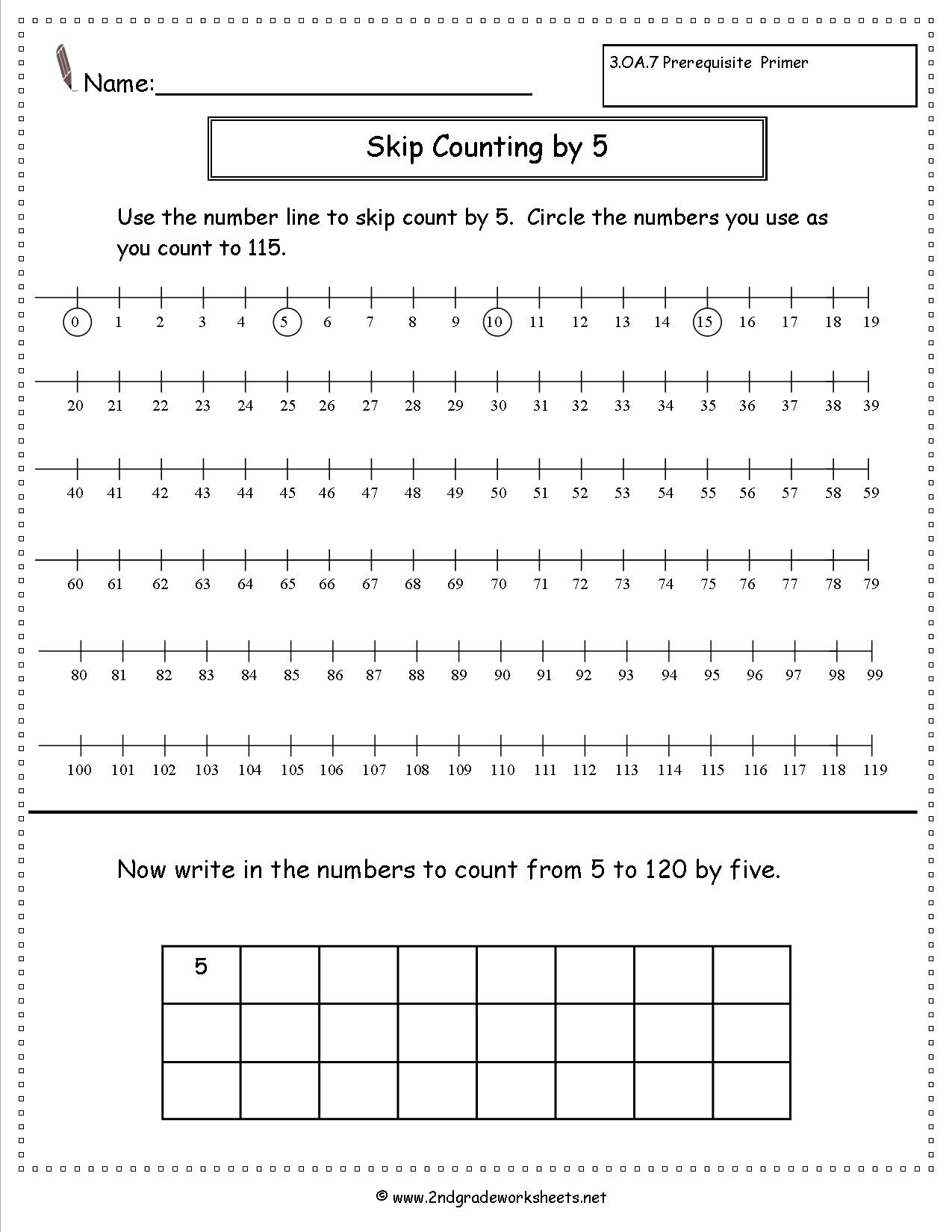 18 Best Images Of Skip Count By Fives Worksheet