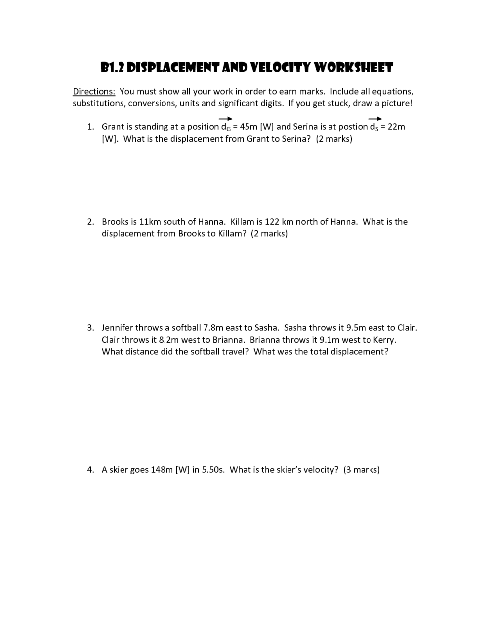 medium resolution of Practice Velocity Problems Worksheet   Printable Worksheets and Activities  for Teachers