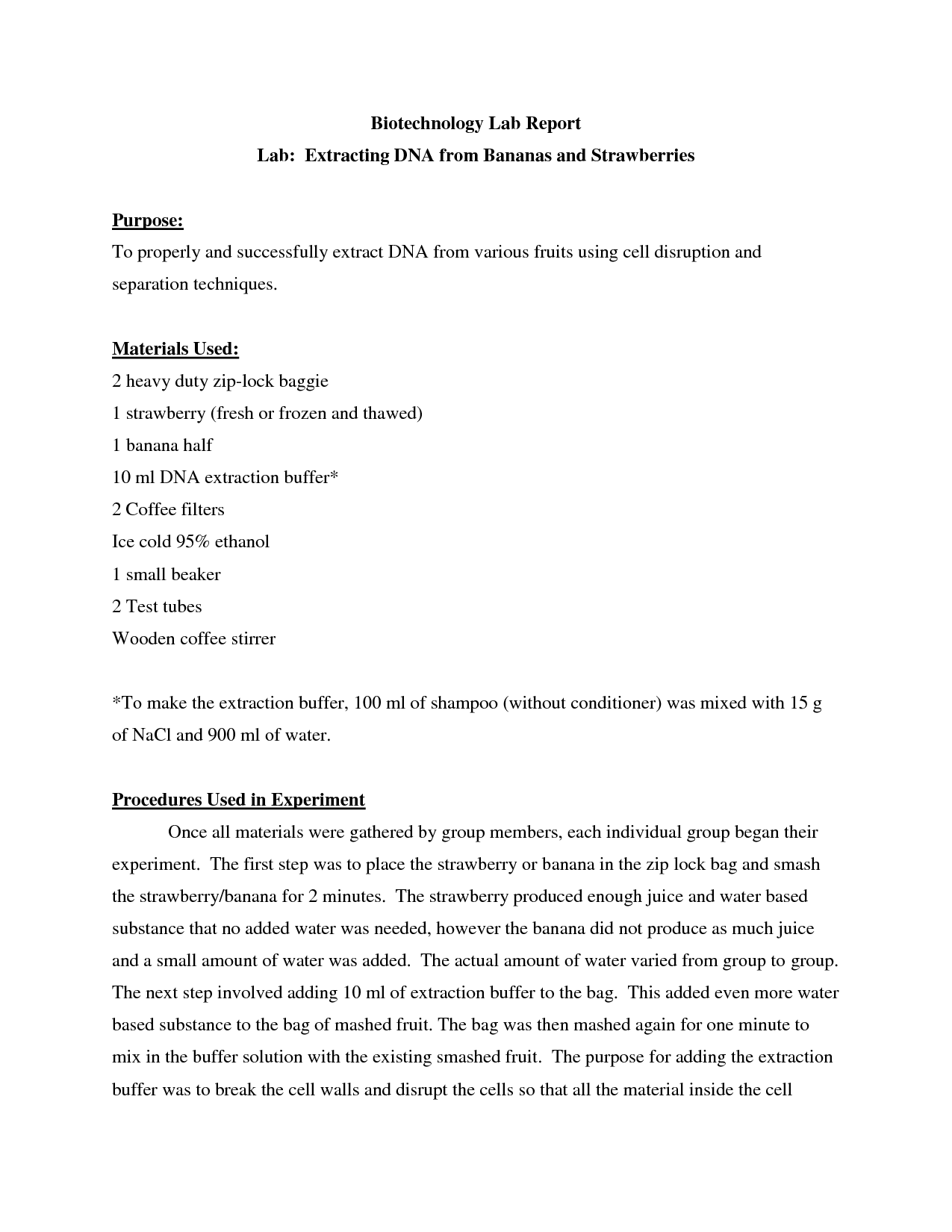 Dna Extraction Lab Report Extracting Onion Dna 02 17