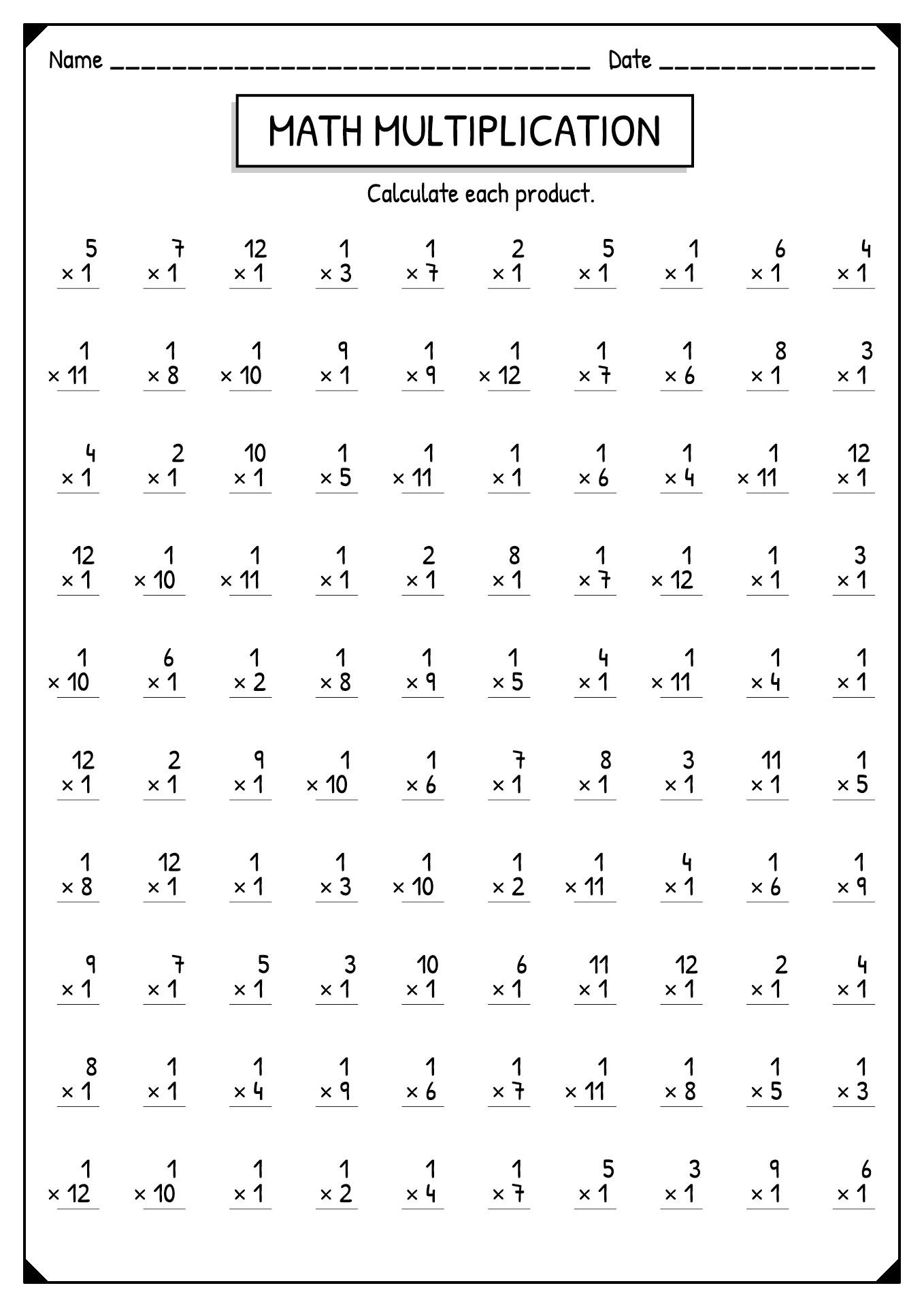 11 Best Images Of Multiplication Worksheets 4s