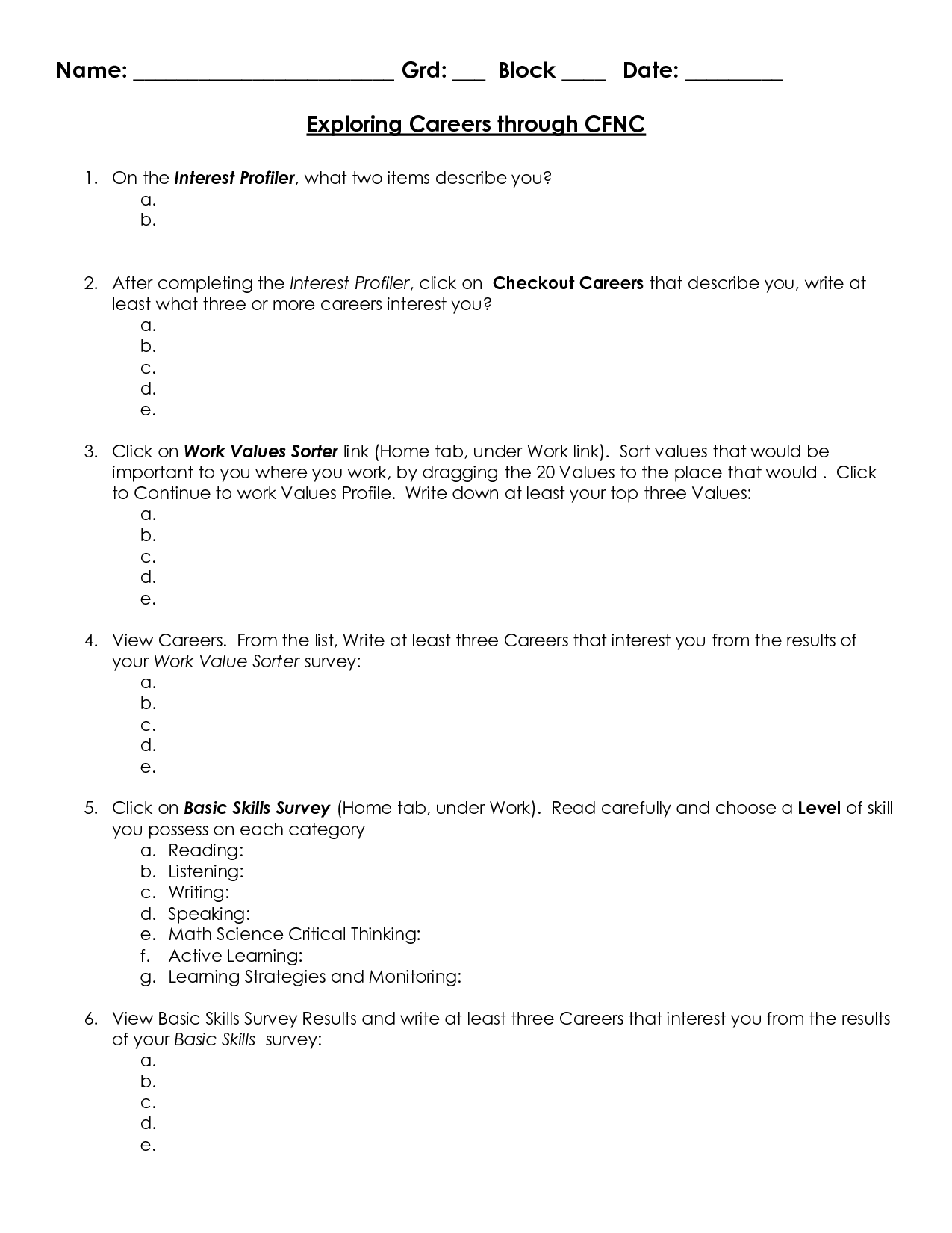 Grammar Worksheet 7th Grade Science