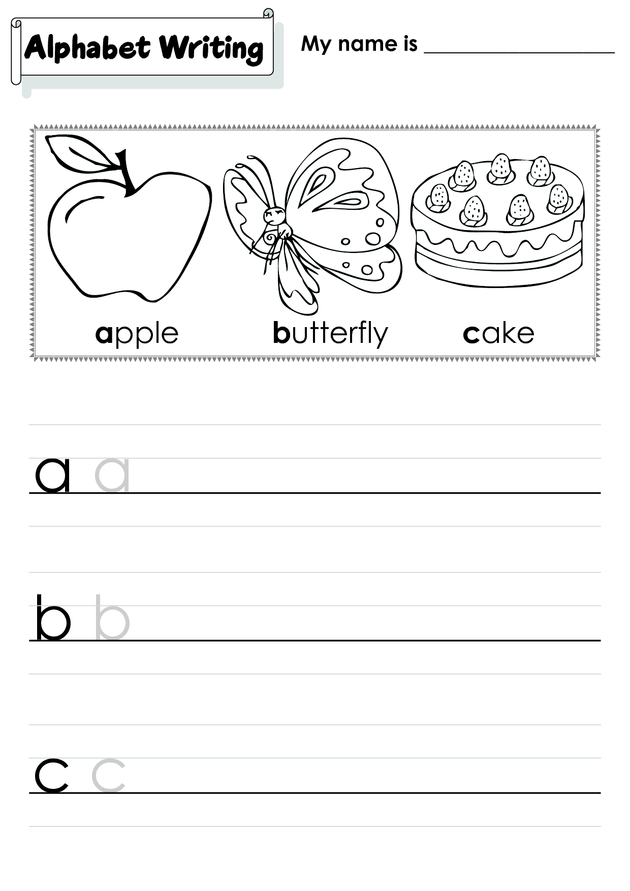 9 Best Images Of Dotted Handwriting Worksheets For