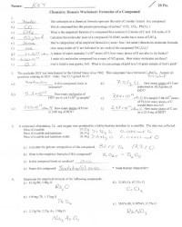 Percent Composition Empirical Formulas Worksheet Answer ...