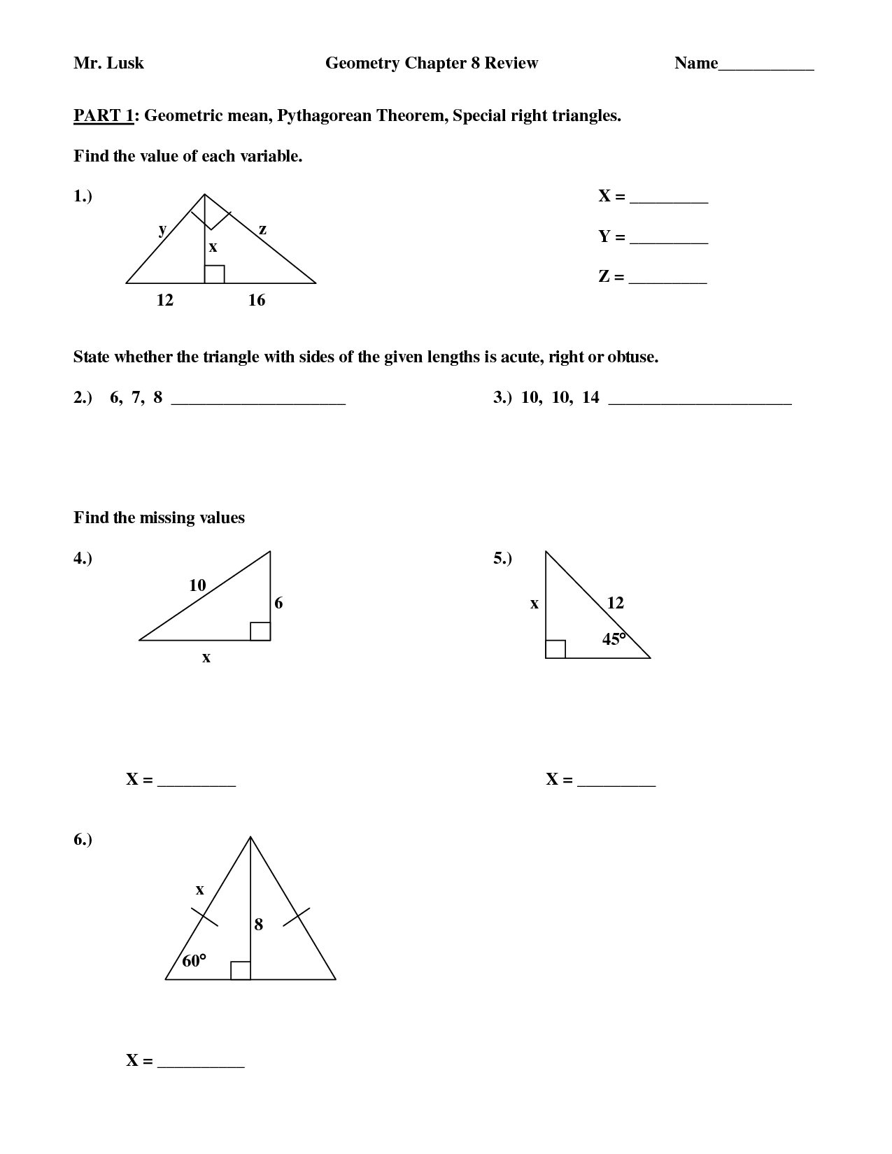 13 Best Images Of Isosceles Triangles Worksheets