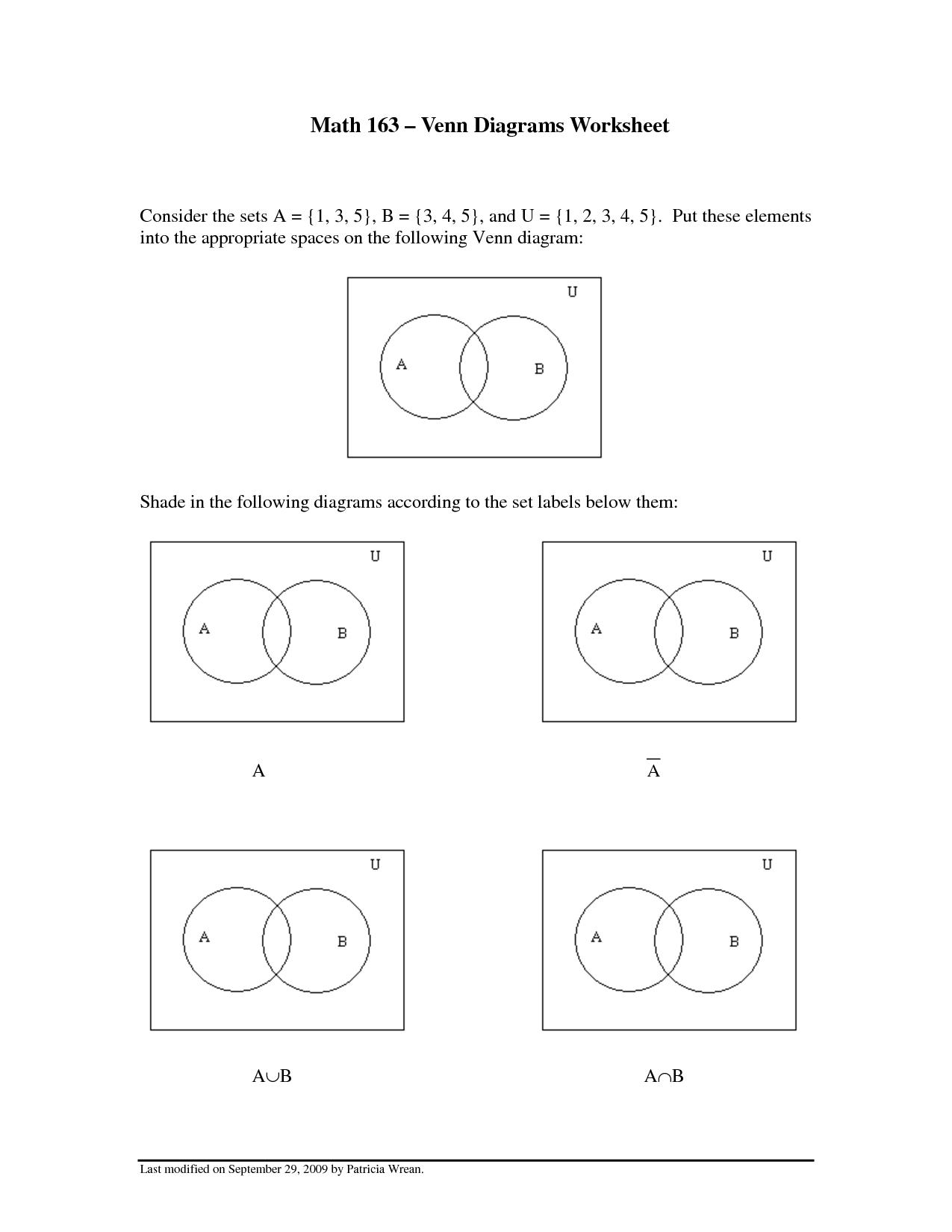 13 Best Images Of Venn Diagram Worksheet To Print