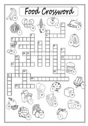 13 Best Images of Food Crossword Puzzle Worksheet