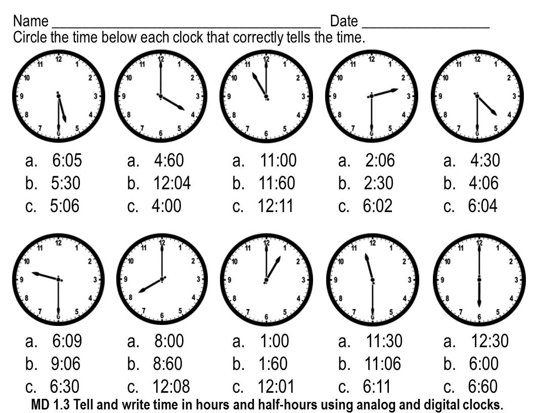 16 Best Images Of Cut And Paste Telling Time Worksheets Half Hour
