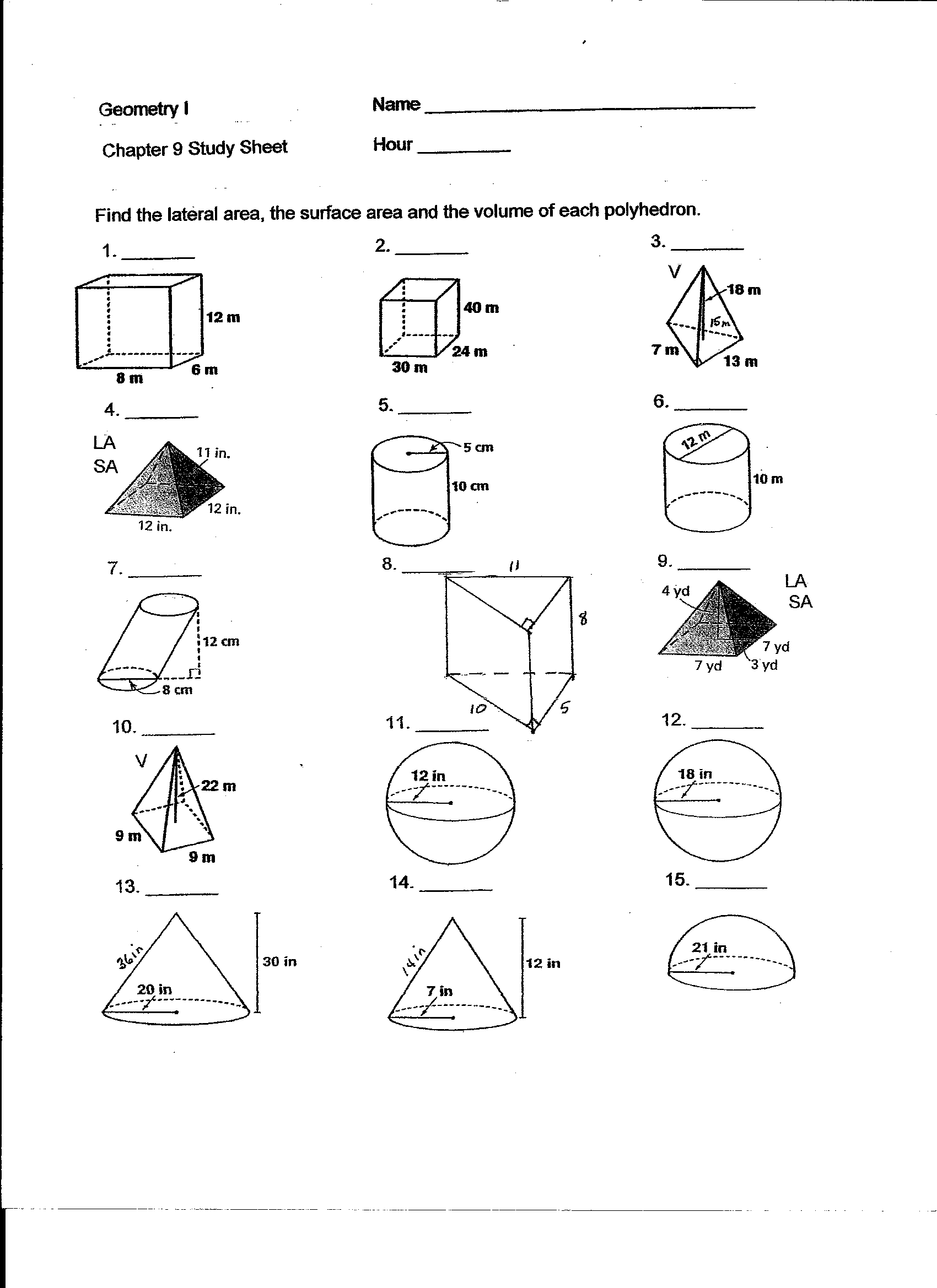 Fast Focus Math Worksheet
