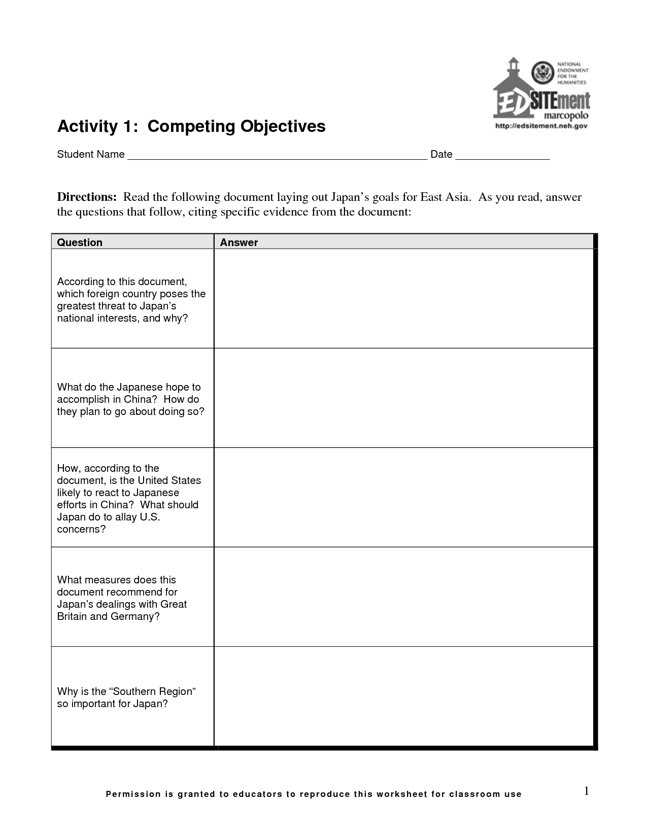 13 Best Images Of Goals And Objectives Worksheet