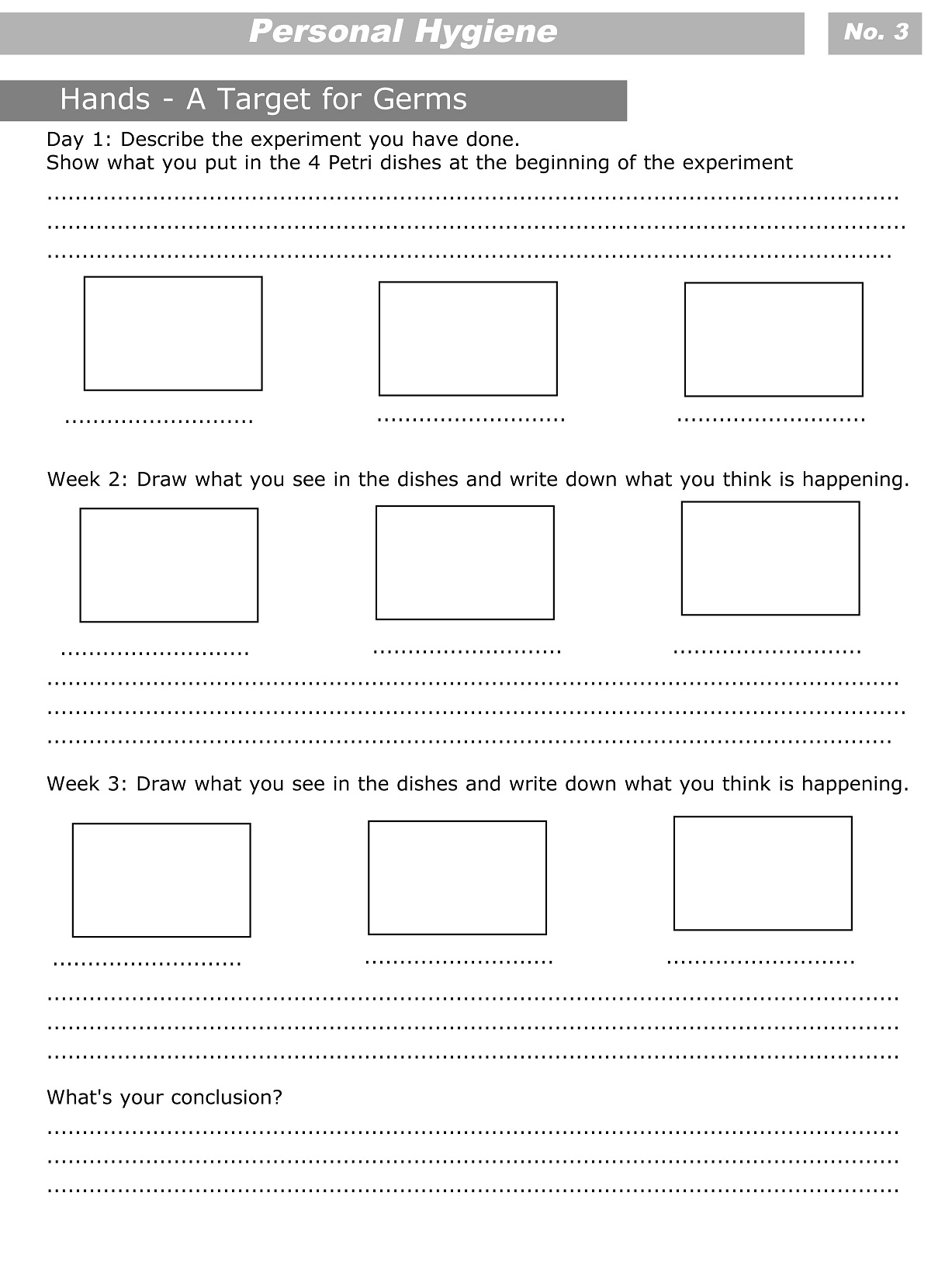 12 Best Images Of Personal Hygiene Worksheets