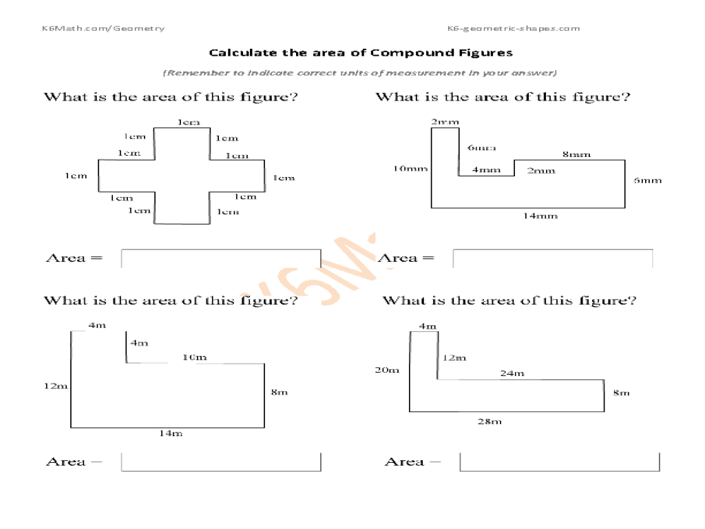 7 Best Images Of Area And Perimeter Worksheets 6th Grade