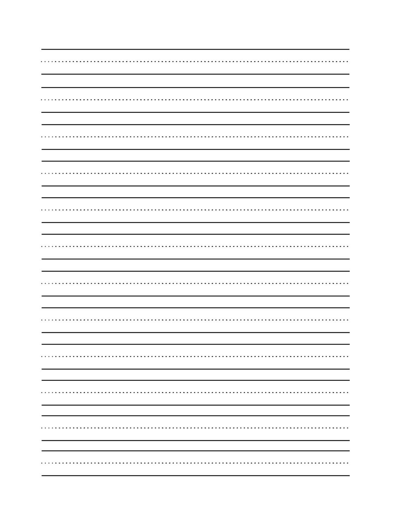 9 Best Images Of Blank Handwriting Worksheets