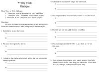 16 Best Images of Writing Dialogue Worksheet - Common Core ...