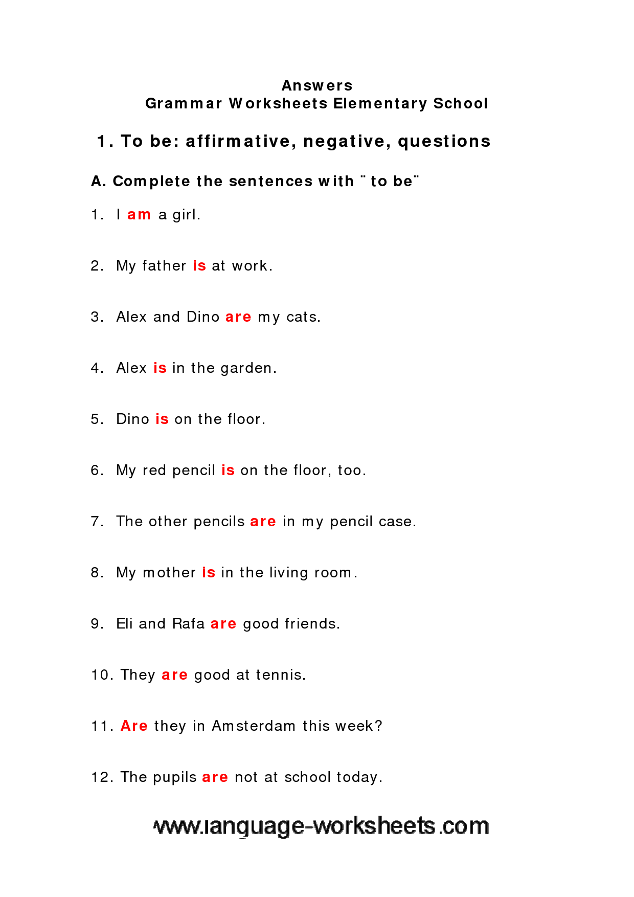 Multimedia Middle School Grammar Worksheets Drynedra
