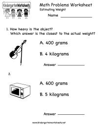 14 Best Images of Kindergarten Math Worksheets Word