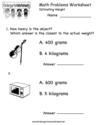 14 Best Images of Kindergarten Math Worksheets Word ...