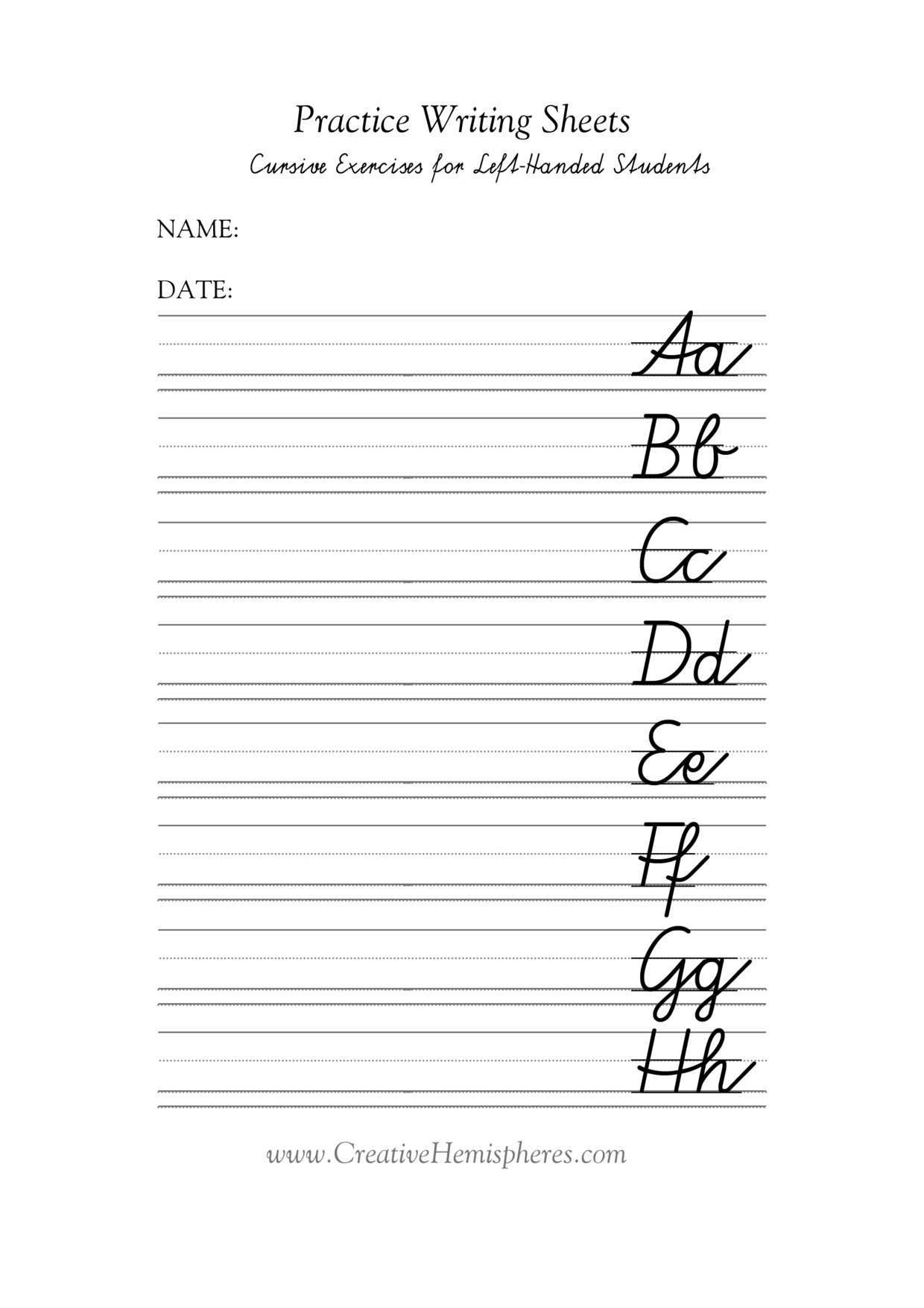 13 Best Images Of Az Handwriting Worksheets