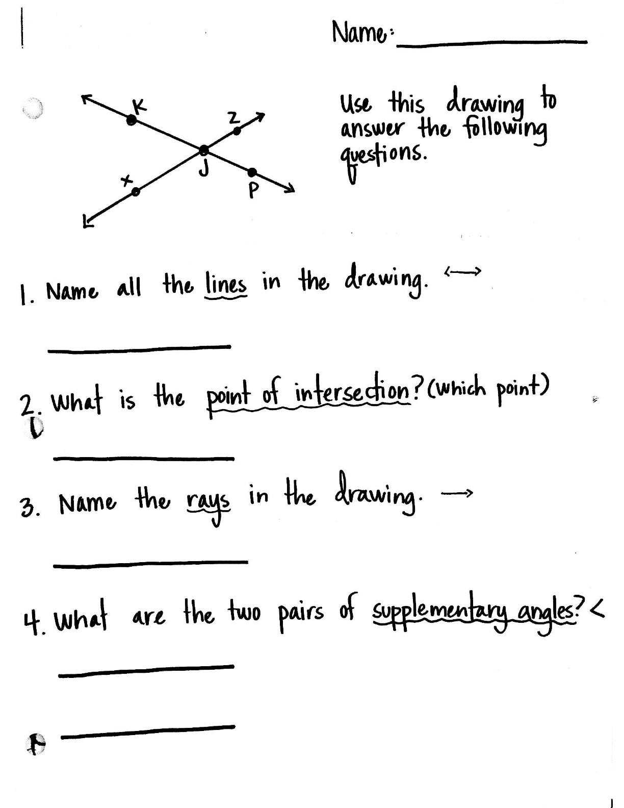Naming Quadrilateral Worksheet