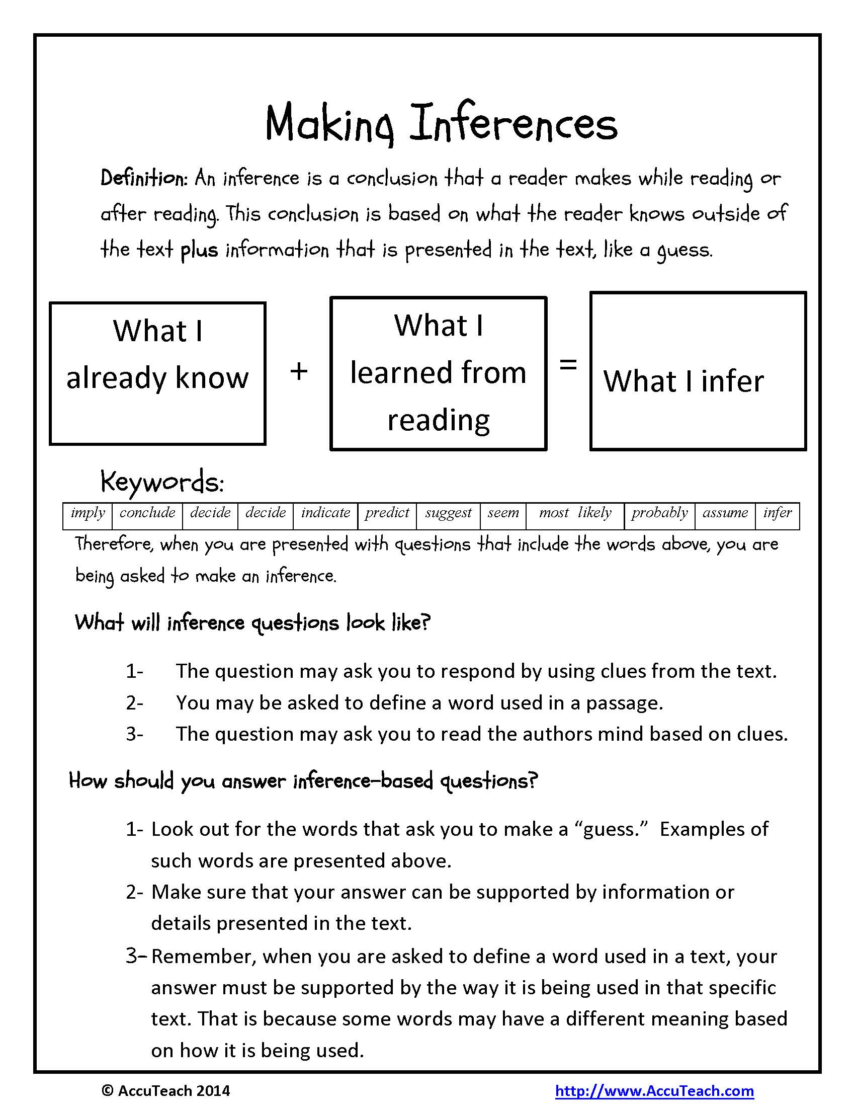 Beautiful 18 Best Images Of Inferencing Worksheets 4th