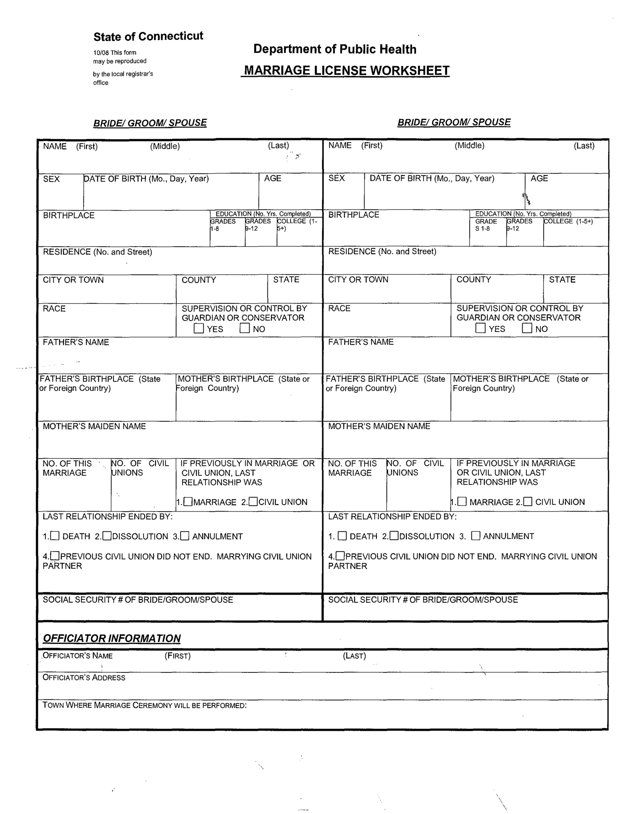 Marriage Counseling Worksheets