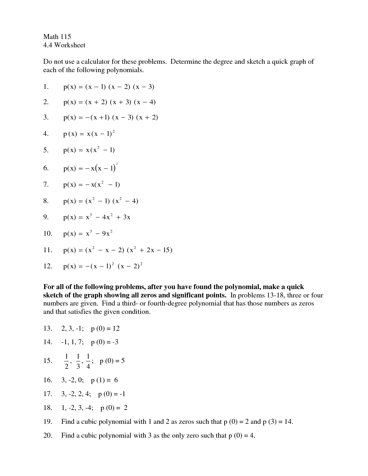 10 Best Images Of Multiplying Polynomials Worksheet