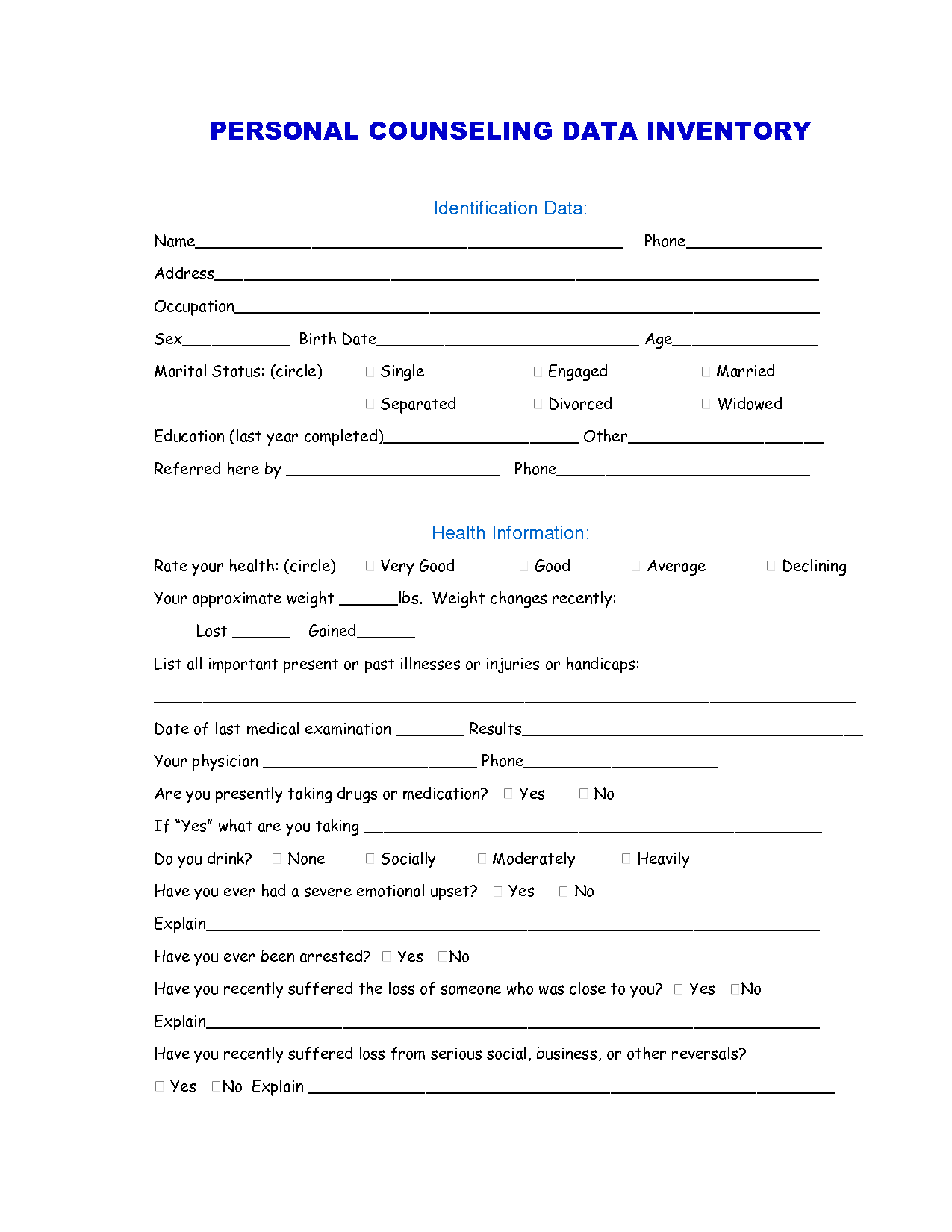 Preparing For Marriage Worksheet
