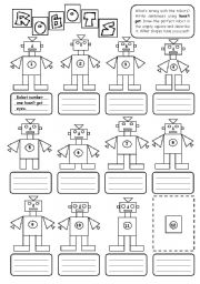 18 Best Images of Career Worksheet Elementary Robot