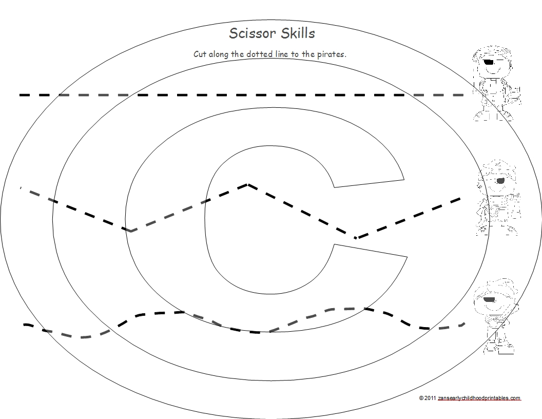 18 Best Images Of Printable Scissor Skills Practice