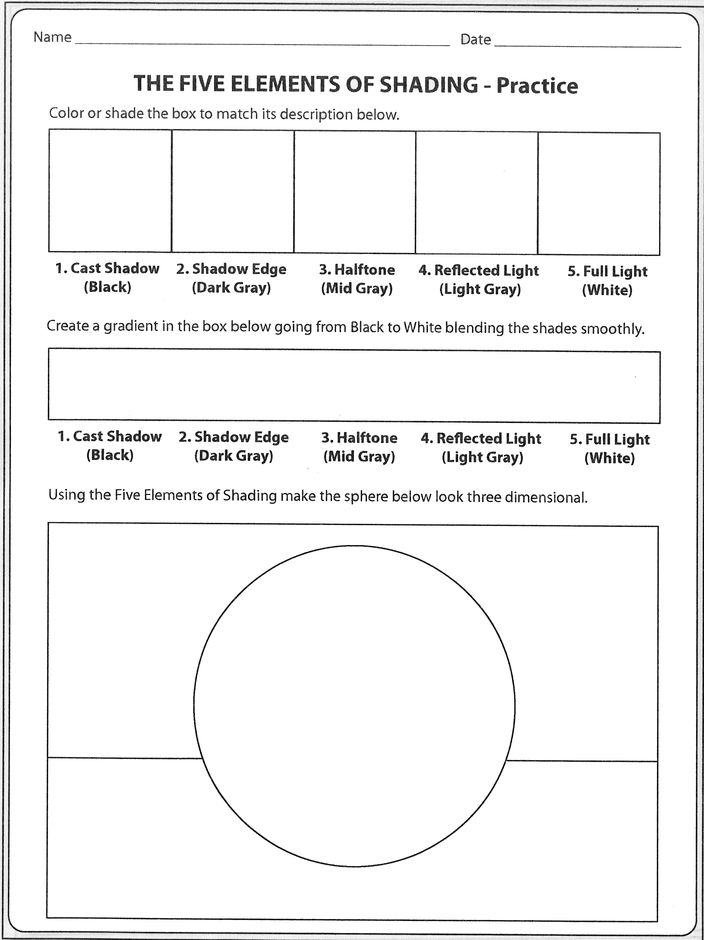 18 Best Images Of Elements Of Art Line Worksheets Free