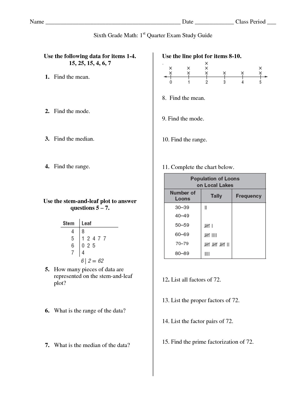 9 Best Images Of Social Stu S Line Graph Worksheets