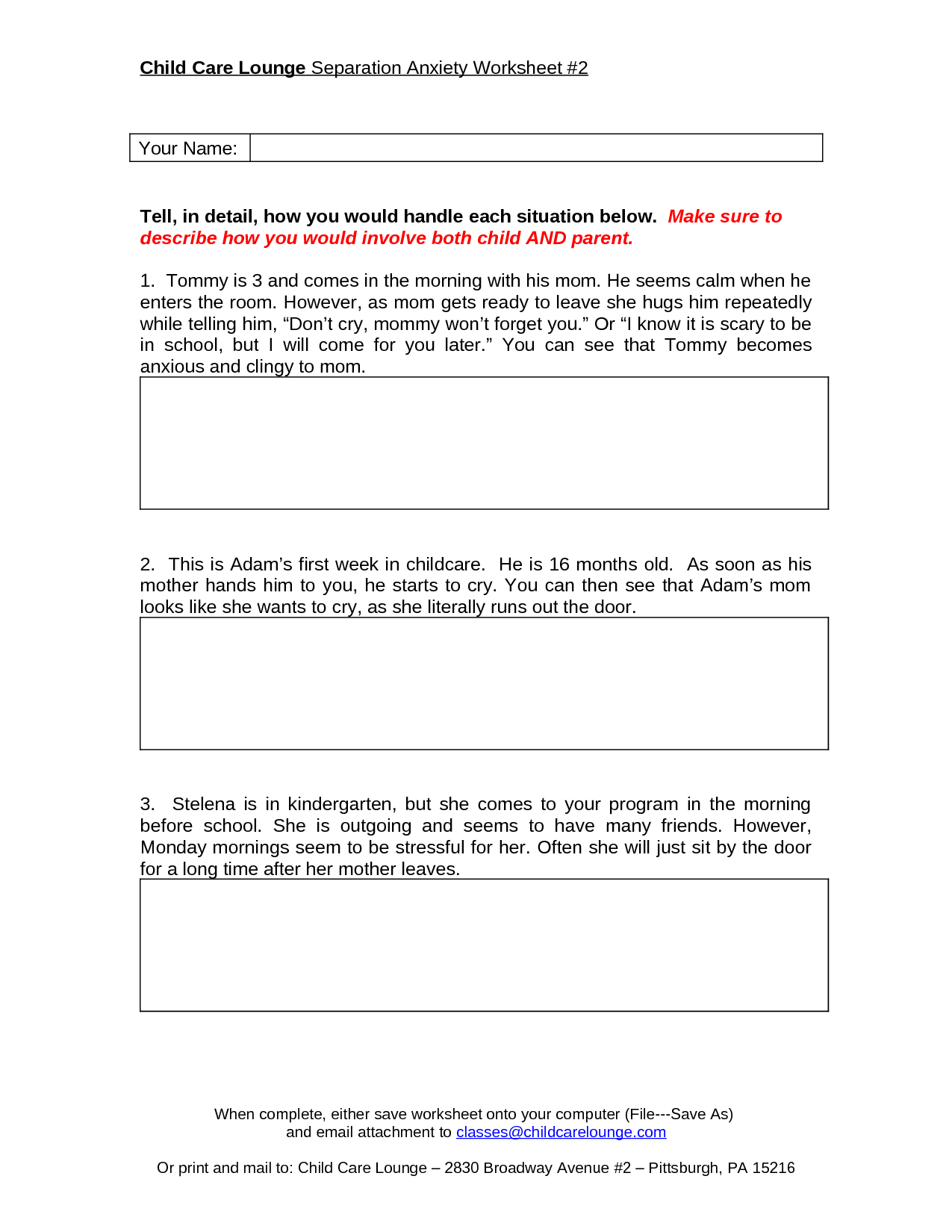 Psychology Abc Worksheet Printable