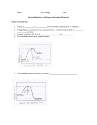 20 Best Images of Enzymes And Chemical Reactions Worksheet ...