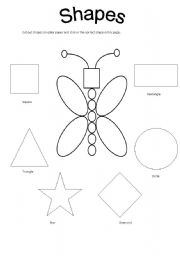 15 Best Images of Shape Review Worksheets For Preschoolers