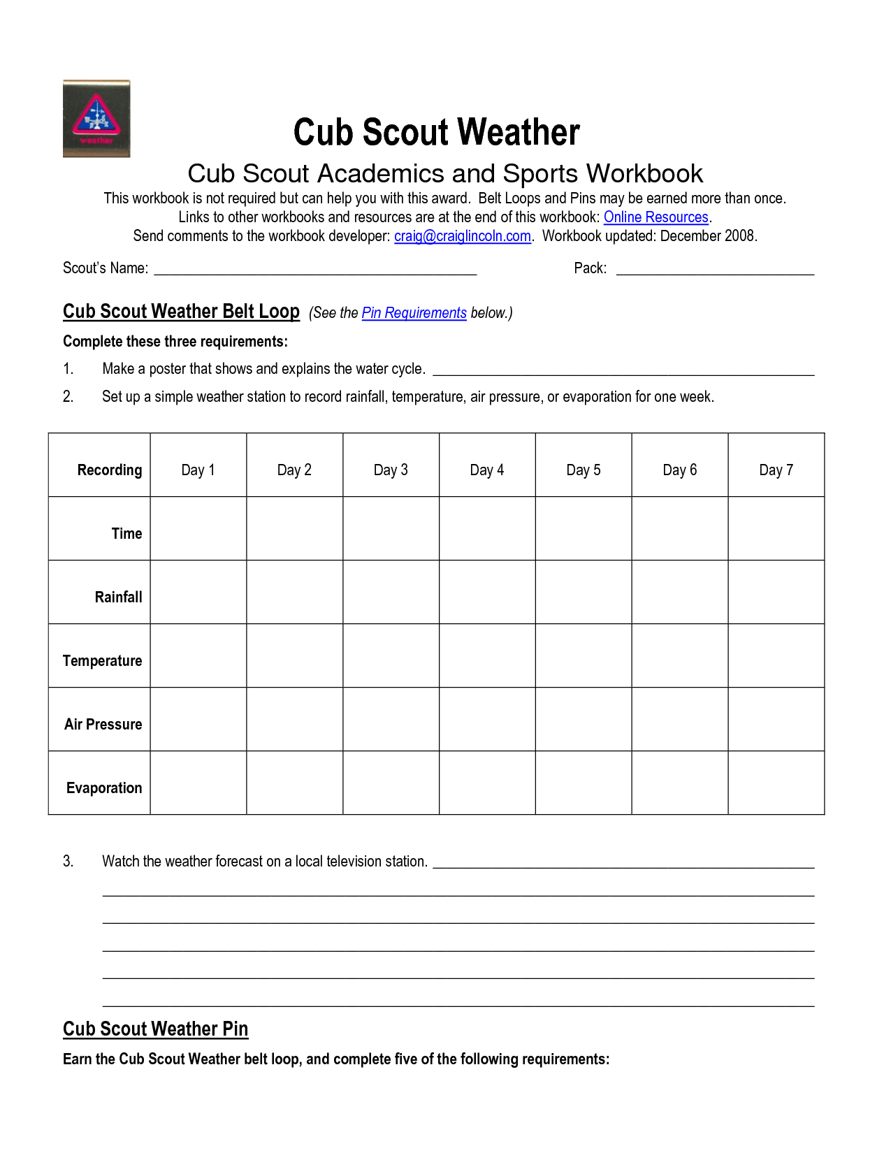 Cub Scout Secret Code Worksheet