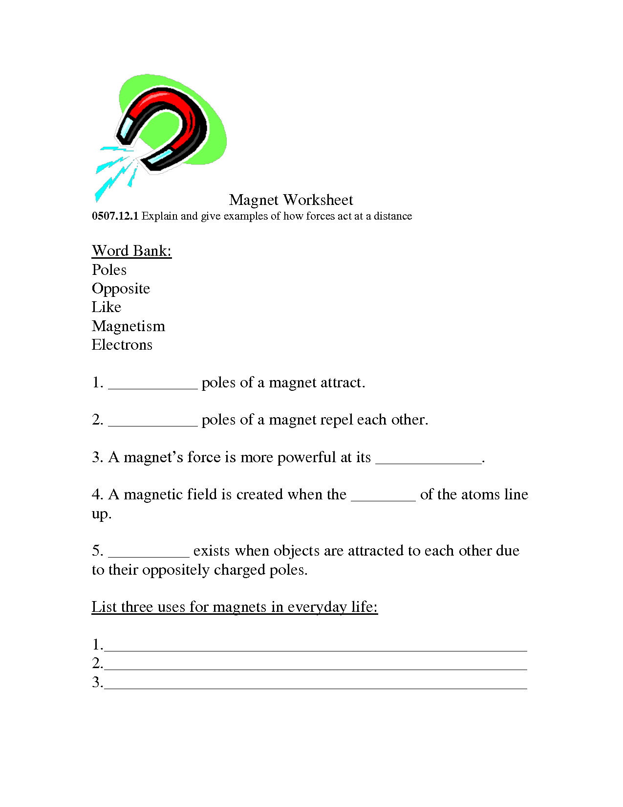 17 Best Images Of Science Worksheets On Magnets