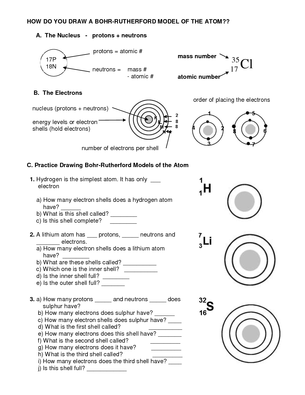 bohr diagram worksheet fast xfi wiring 15 best images of nuclear chemistry answer key - decay ...