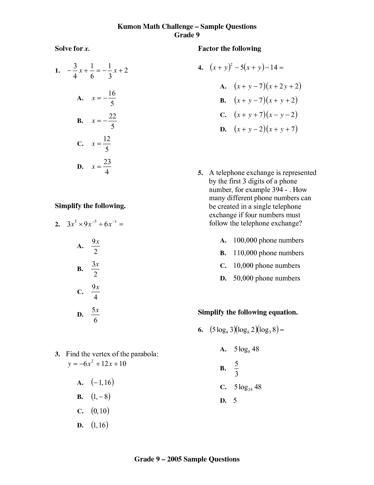 Kumon Worksheet Download Free