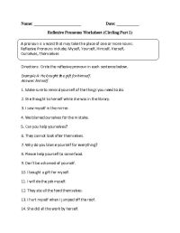 16 Best Images of Reflexive Pronouns 2nd Grade Worksheets ...
