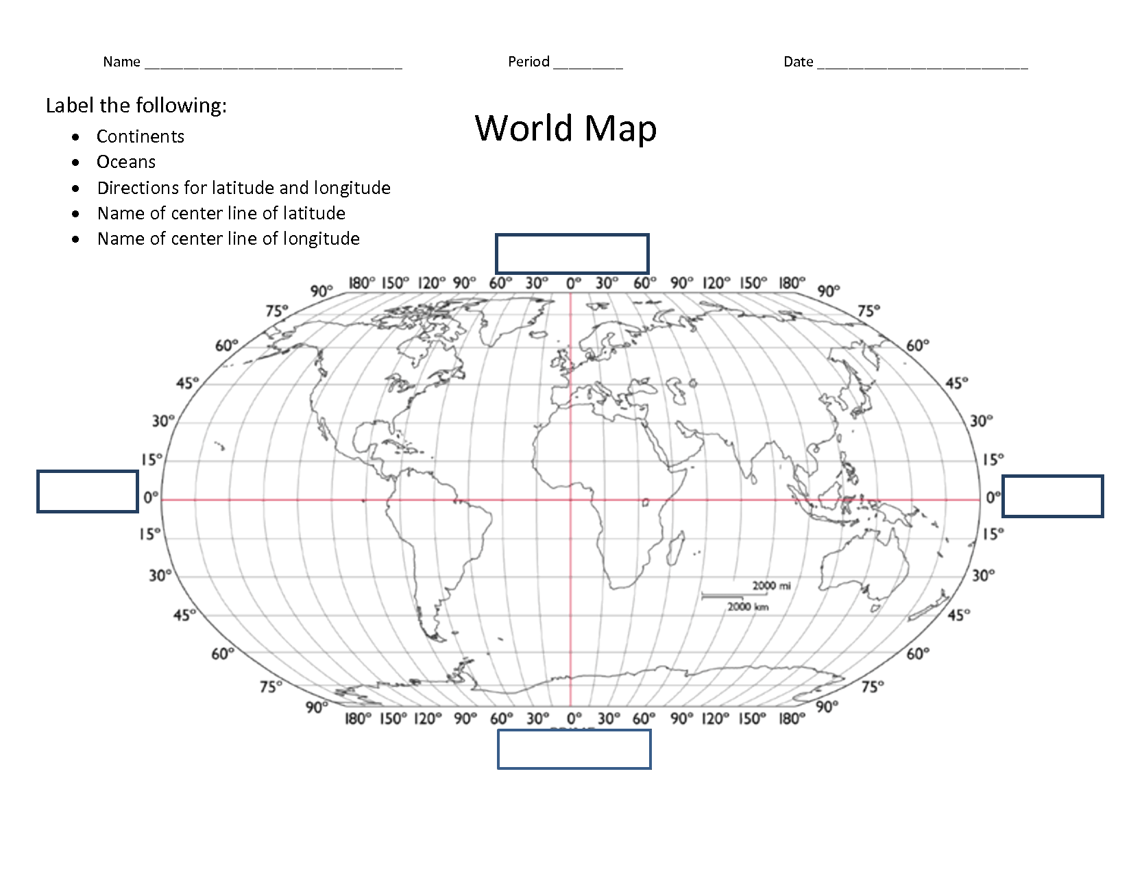 12 Best Images Of Lines Of Latitude Worksheet