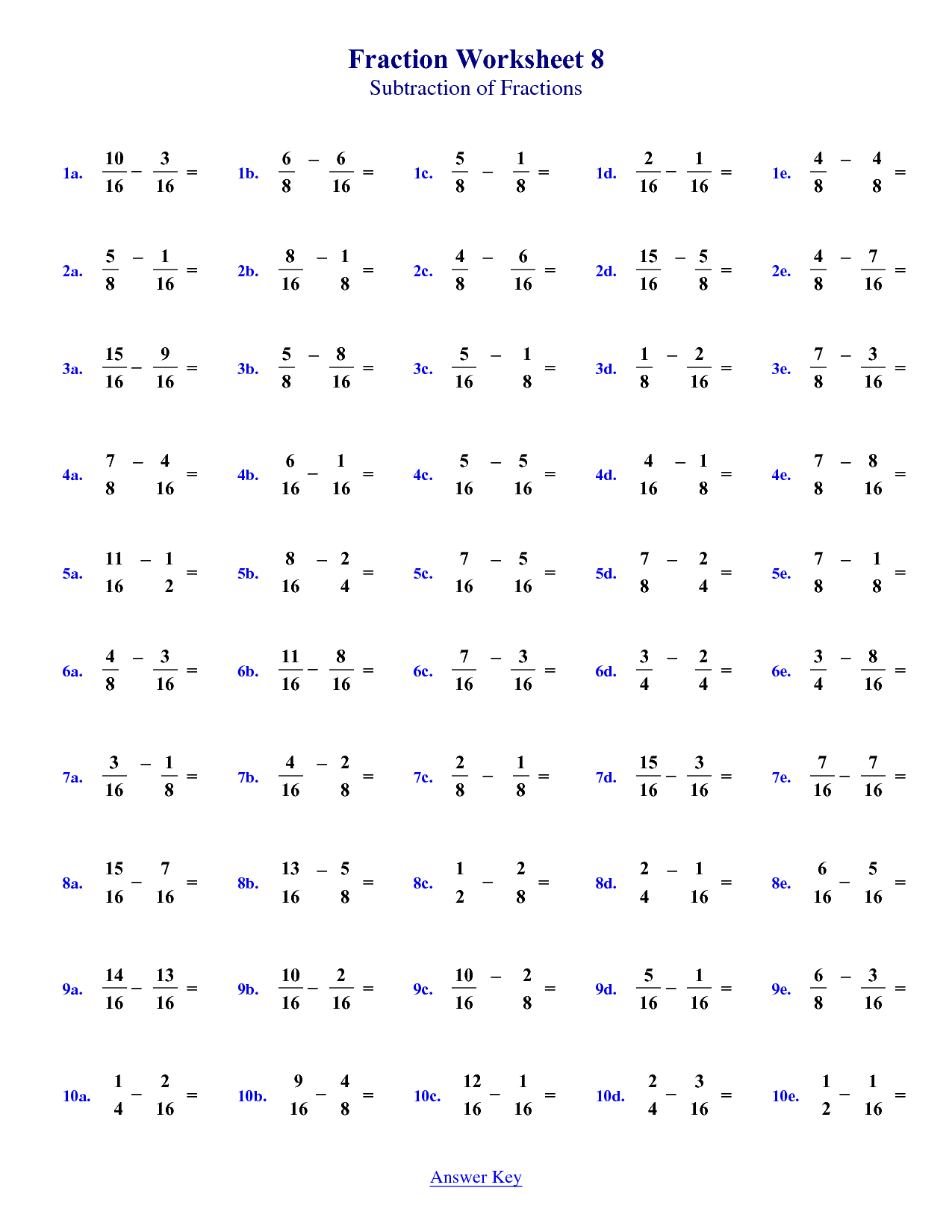 4th Division Worksheet
