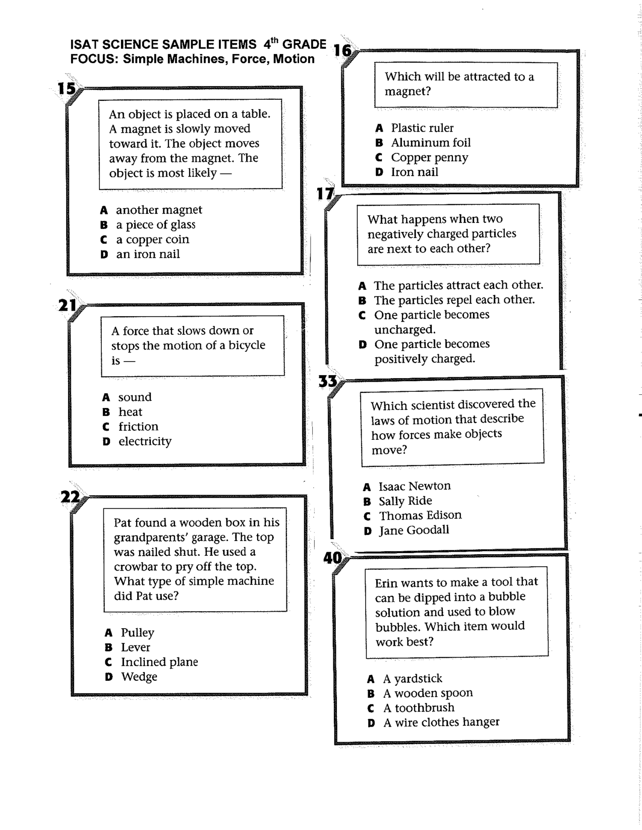 Simple Machines Essay Questions