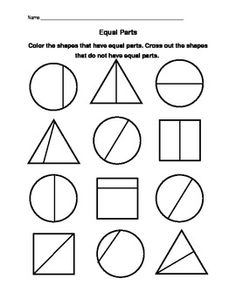 19 Best Images of Equal Parts Worksheet Second Grade